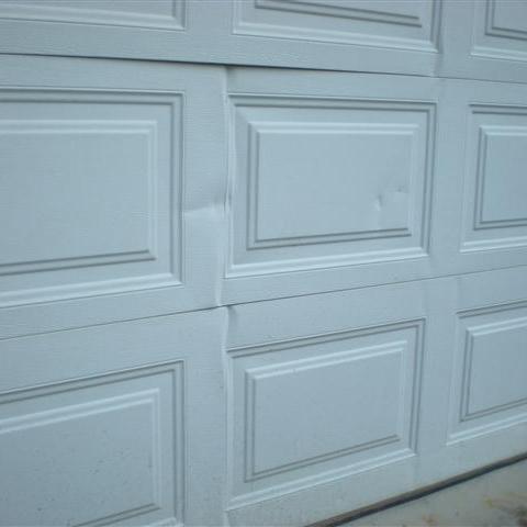 dented garage door