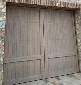 wood carriage door designs